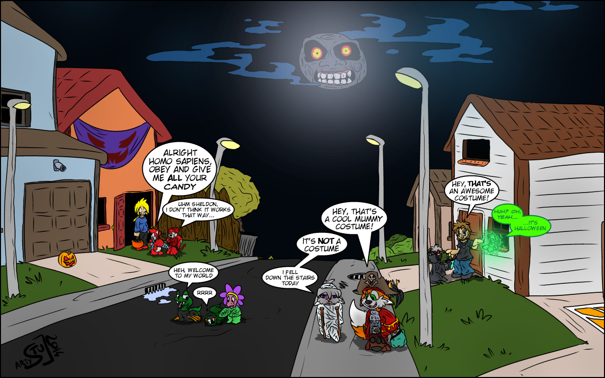 Halloween special drawn by Stu