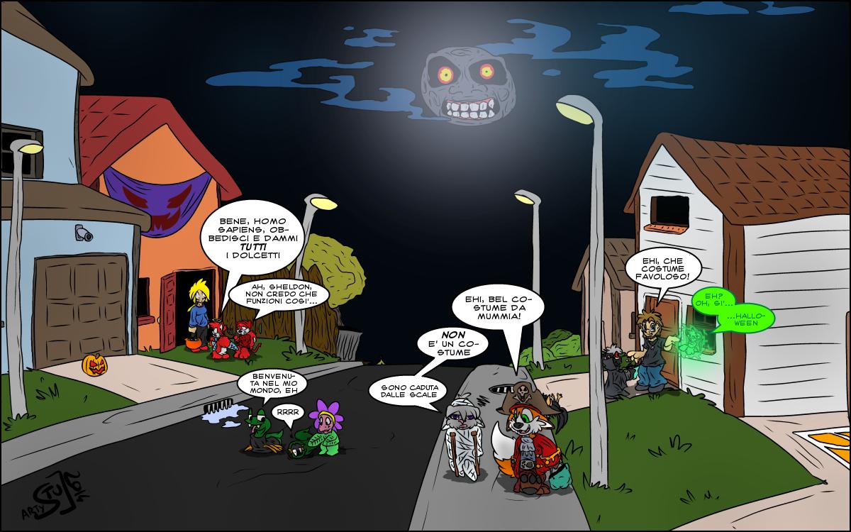 Speciale di Halloween, disegnato da Stu